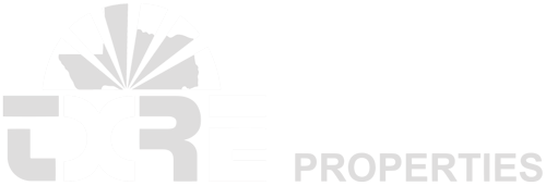 TXRE Properties white and gray logo